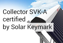 Collector SVK-A certified by Solar Keymark