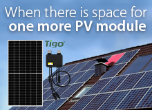 PV module with Tigo optimizer Kit