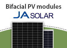 Bifacial PV modules by JA Solar